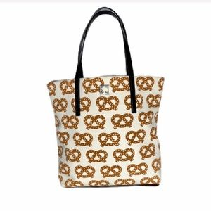 Kate Spade textured soft pretzel canvas tote bag